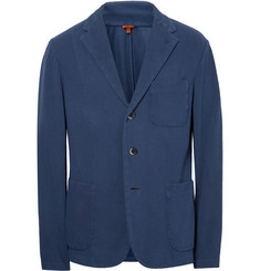 Barena - Blue Slim-Fit Unstructured Knitted Cotton Blazer
