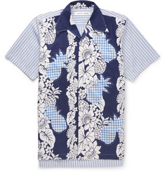 Comme des Garcons SHIRT Slim-Fit Camp-Collar Printed Cotton Shirt