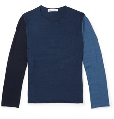 Comme des Garcons SHIRT - Slim-Fit Colour-Block Knitted Cotton T-Shirt