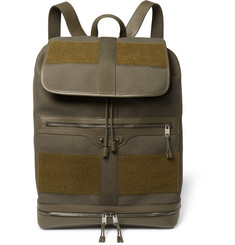 Balenciaga Traveller Leather and Felt-Trimmed Canvas Backpack