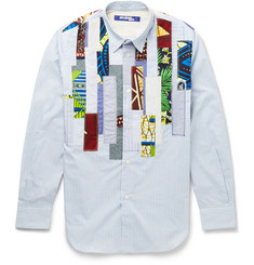 Junya Watanabe Slim-Fit Patchwork Cotton Shirt