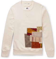 Junya Watanabe + Merz b. Schwanen Patchwork Cotton and Linen-Blend Sweatshirt