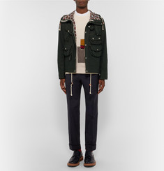 Junya Watanabe - + Merz b. Schwanen Patchwork Cotton and Linen-Blend Sweatshirt