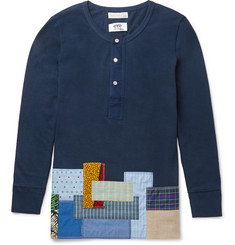 Junya Watanabe - + Merz b. Schwanen Slim-Fit Patchwork Cotton T-Shirt