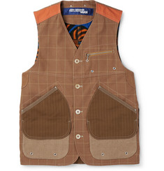 Junya Watanabe Patchwork Cotton and Linen-Blend Waistcoat