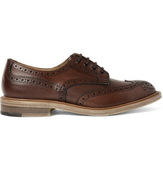 Junya Watanabe + Tricker's Burnished-Leather Wingtip Brogues