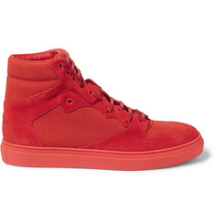 Balenciaga - Panelled Suede High-Top Sneakers