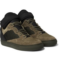 Balenciaga - Suede, Neoprene and Mesh High-Top Sneakers