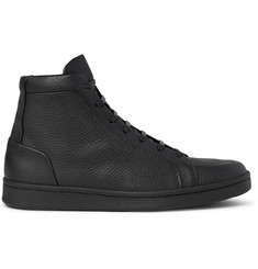 Balenciaga Full-Grain Leather High-Top Sneakers