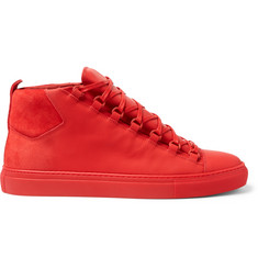 Balenciaga - Suede and Leather High-Top Sneakers