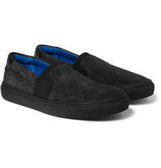 Balenciaga - Cracked-Nubuck Slip-On Sneakers