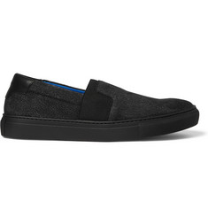 Balenciaga Cracked-Nubuck Slip-On Sneakers