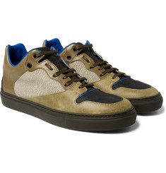 Balenciaga - Panelled Leather and Cracked-Nubuck Sneakers