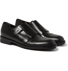 Balenciaga - Commando-Sole Leather Monk-Strap Shoes