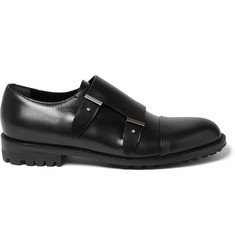 Balenciaga Commando-Sole Leather Monk-Strap Shoes