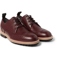 Balenciaga - Pebble-Grain Leather Wingtip Brogues