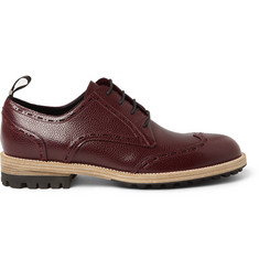 Balenciaga Pebble-Grain Leather Wingtip Brogues