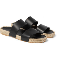 Balenciaga - Leather Espadrille Sandals