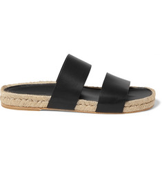 Balenciaga Leather Espadrille Sandals