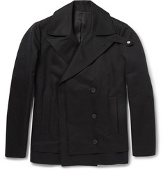 Balenciaga Double-Breasted Cotton Peacoat