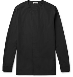 Balenciaga Slim-Fit Collarless Cotton-Poplin Shirt