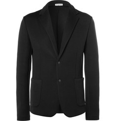 Balenciaga Black Cotton-Blend Jersey Blazer
