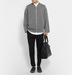 Balenciaga Wool-Jersey Zip-Up Sweater