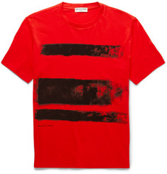 Balenciaga Paint-Print Cotton-Jersey T-Shirt