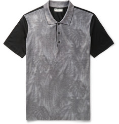Balenciaga Printed Cotton-Piqué Polo Shirt
