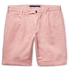 Incotex - Linen and Cotton-Blend Shorts