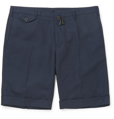 Incotex Wool and Linen-Blend Shorts