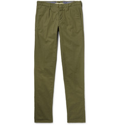 Incotex Slim-Fit Pleated Cotton Trousers