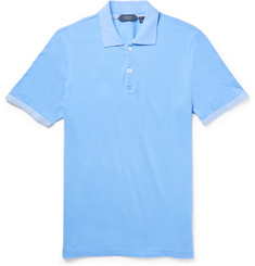 Incotex - Slim-Fit Knit-Trimmed Pima Cotton-Piqué Polo Shirt