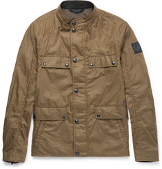 Belstaff Leighwood Slim-Fit Waxed-Cotton Field Jacket