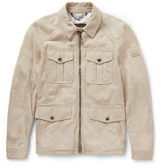 Belstaff - Longmead Slim-Fit Suede Field Jacket