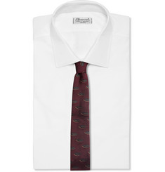 Dries Van Noten Lip-Patterned Silk-Jacquard Tie