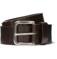 Dries Van Noten 3.5cm Dark-Brown Leather Belt