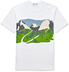 Comme des Garcons SHIRT - Mountain-Print Cotton T-Shirt
