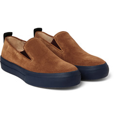 Dries Van Noten - Rust Suede Slip-On Sneakers