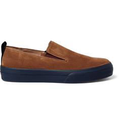 Dries Van Noten Rust Suede Slip-On Sneakers