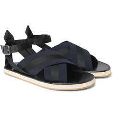 Dries Van Noten - Leather and Grosgrain Sandals