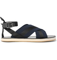 Dries Van Noten Leather and Grosgrain Sandals