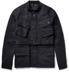 Coach - Leather-Trimmed Cotton-Gabardine Jacket