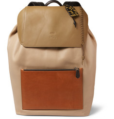 Coach Colour-Block Grained-Leather Backpack