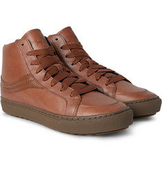 Coach - Leather High-Top Sneakers
