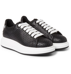 Alexander McQueen - Exaggerated-Sole Laser-Cut Leather Sneakers