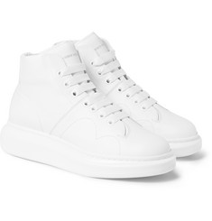 Alexander McQueen - Exagerrated-Sole Leather High-Top Sneakers