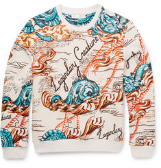 Alexander McQueen Legendary Creature Cotton-Jersey Sweater