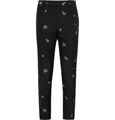 Alexander McQueen Slim-Fit Jacquard Trousers