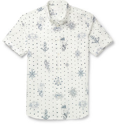 Alexander McQueen - Slim-Fit Button-Down Collar Printed Cotton Shirt